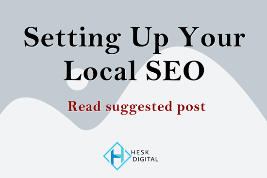 Suggested reading post - Setting Up Your Local SEO - COVID-19 Recovery Grant -