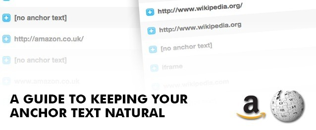 Natural anchor text guide